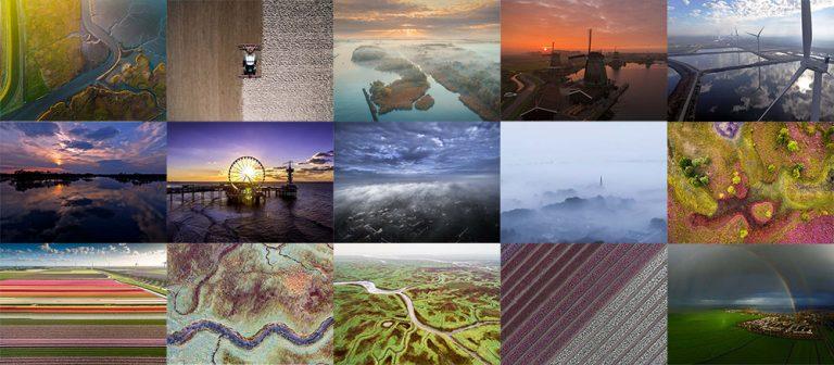 collage dronefoto van 2016 afbeelding